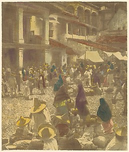 The Plaza, Market Day, Taxco, Mexico