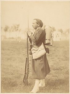 [Soldier Posed with Rifle and Bayonette]