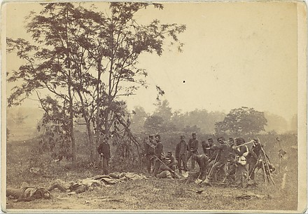 Burying the Dead on the Battlefield of Antietam, September 1862