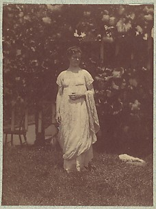 [Mrs. Louis Kentin in Empire Dress]
