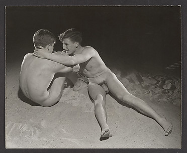 [Two Male Nudes on Sand]
