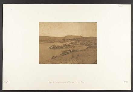Vue de la premire Cataracte, prise  l&#39;Ouest, entre Assouan et Philae