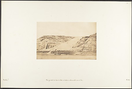 Vue gnrale des Spos de Phr et d&#39;Athor,  Abousembil, prise de l&#39;le