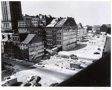 Boston, Massachusetts. Demolition along the Waterfront in preparation for an Expressway