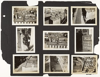 [Elevated Views of Lower Manhattan Buildings and Billboards, New York]