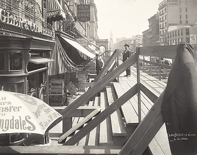 [Interborough Rapid Transit (IRT) Construction, 25th Street and Fourth Avenue, New York City]