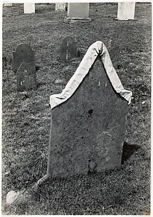 [Gravestone of James Hancock, with White Drapery]