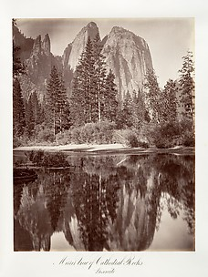 Mirror View of Cathedral Rocks, Yosemite