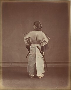 [Woman in Traditional Japanese Garment Photographed from Behind]