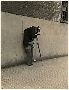 [Walker Evans with View Camera]