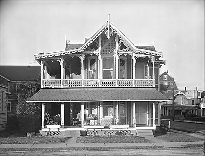 [Folk Victorian House with Jigsaw Ornament, Ocean City, New Jersey]