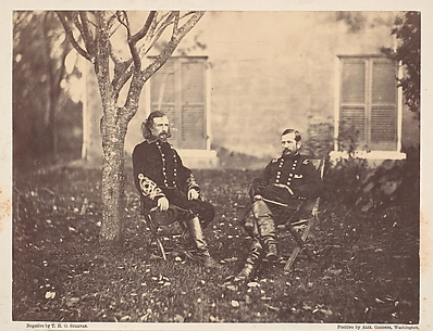 Major General Pleasanton and General Custer