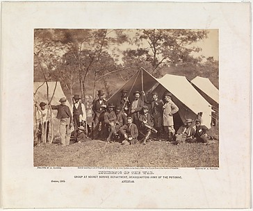 Group at Secret Service Department, Headquarters, Army of the Potomac, Antietam, October 1862