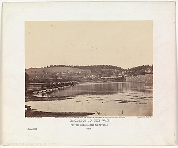 Pontoon Bridge Across the Potomac, Berlin, October 1862