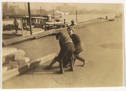 [Boys, Waterfront, New York]