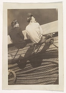 [Boat Passengers and Ropes, New York]