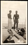 [Walker Evans and Unidentified Man, Possibly Oliver Jennings, Talking to Unidentified Woman, Aboard the Cressida, South Seas Trip]