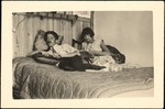 [Georgette Maury and André Maury Reclining on Bed, Juan-les-Pins, France]