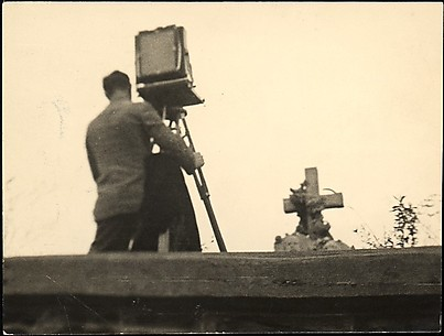 [Walker Evans Working View Camera in St. Michael's Cemetery, Bethlehem, Pennsylvania]