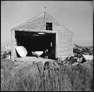 [48 Exterior Views of Heliker House, Including Portraits of Walker Evans, Isabelle Evans, and Others, Cranberry Island, Maine]