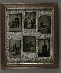 [Collage with Six Tintypes]