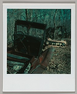 [Junked Automobile Skeleton and Truck Grill, Connecticut]
