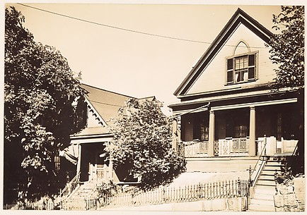 [Victorian Architecture: Pair of Houses with Peaked Roofs, South Boston, Massachusetts]