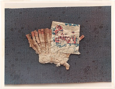 [Flattened Matchbook Collected by Walker Evans]