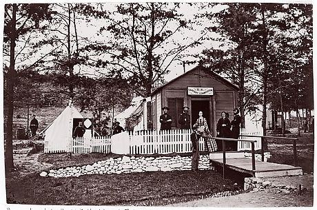 Sanitary Commission Office. Convalescent Camp, Alexandria, Virginia