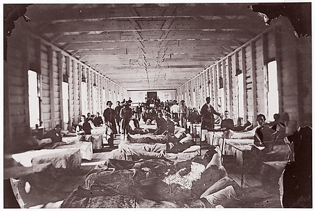 Ward in Hospital. Convalescent Camp, Alexandria Virginia