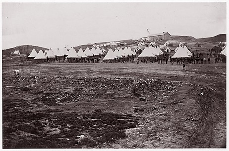 Camp of 34th Massachusetts Infantry near Fort Lyon, Virginia