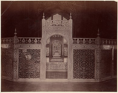 [Interior of Taj Mahal, Agra]
