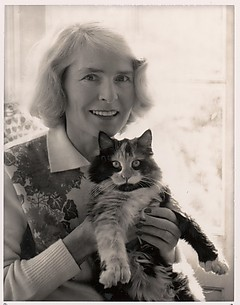 Margaret Bourke-White and Cat, Darien, Connecticut
