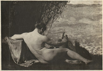 Nude Man with Harp