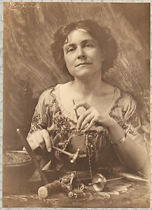 Miss Lilian C. Wiver in Her Workshop
