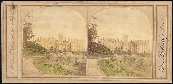 [Group of 5 Early Stereograph Views of British Hotels and Inns]