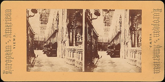 [Group of 5 Stereograph Views of Westminster Abbey, London, England]