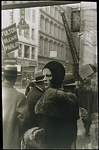 Girl in Fulton Street, New York