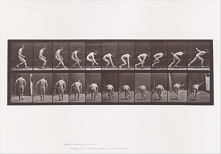 Animal Locomotion.  An Electro-Photographic Investigation of Consecutive Phases of Animal Movements.  Commenced 1872 - Completed 1885.  Volume I, Men (Nude)