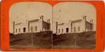 [4 Stereographic Views of Reservoir Buildings, Central Park, New York]