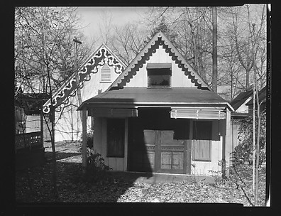 [Two Folk Victorian Cottages at Ossining Camp Woods, New York]