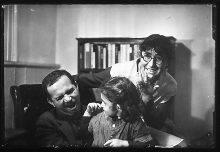 [Ben, Tillie, and Judith Shahn at 23 Bethune Street Apartment, New York City]