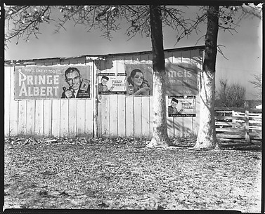 [Cigarette Advertisements on Barn Façade, Chilton County, Alabama]
