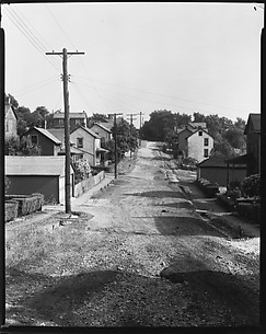 [Houses in Rows Along Dirt Road, Mt. Pleasant, Pennsylvania]
