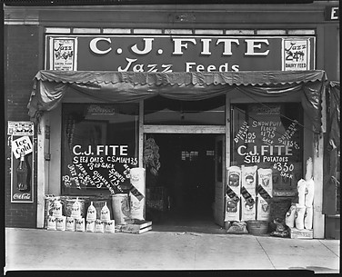 [Storefront Façade of C.J. Fite Jazz Feeds, Jackson, Mississippi]