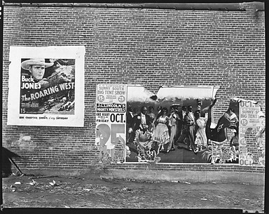 [Movie and Minstrel Show Posters on Brick Wall, Demopolis, Alabama]