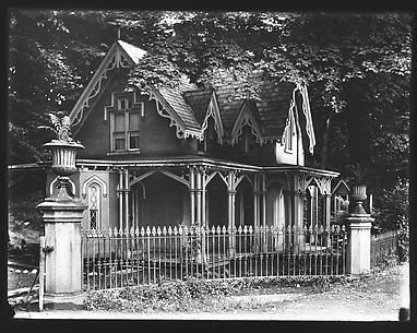 [Gothic Revival House with Iron Gate, Poughkeepsie, New York]