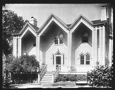 [Gothic Revival House with Three Gables, Nyack, New York]