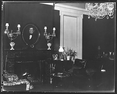 [View of Library Showing Fireplace, Residence of Gifford Cochran, Croton Falls, New York]