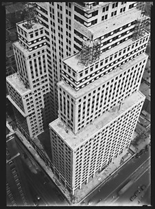 [Chrysler Building Construction, From Roof of Chanin Building, New York City]